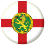 Alderney Island Flag 58mm Button Badge